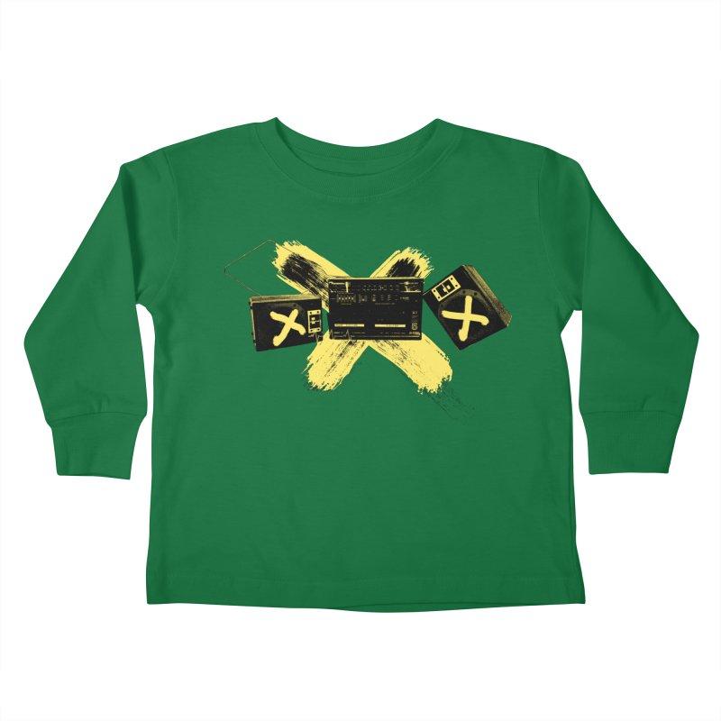 Flatline Kids Toddler Longsleeve T-Shirt by The Artist Shop of Ben Stevens