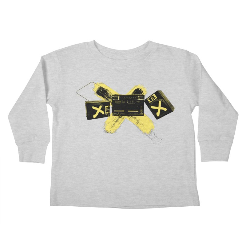 Flatline Kids Toddler Longsleeve T-Shirt by The Artist Shop of Ben Stevens