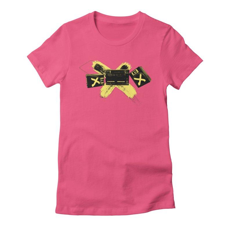 Flatline Women's Fitted T-Shirt by The Artist Shop of Ben Stevens