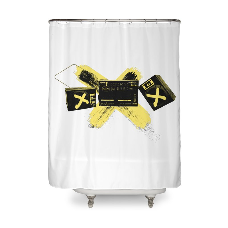 Flatline Home Shower Curtain by The Artist Shop of Ben Stevens