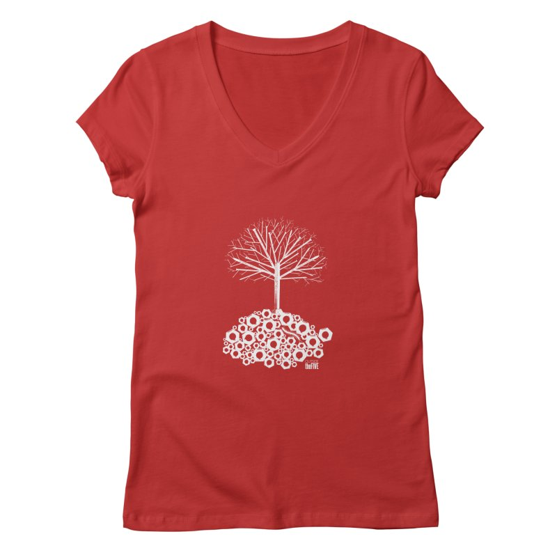 Industree Women's V-Neck by The Artist Shop of Ben Stevens