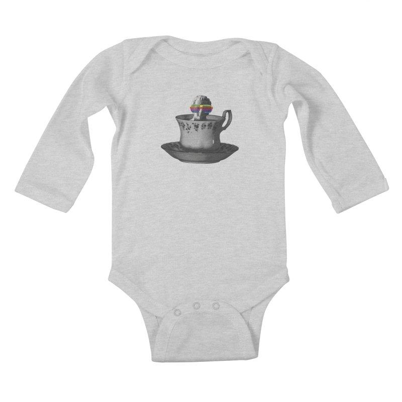 A Cup of Genius Kids Baby Longsleeve Bodysuit by The Artist Shop of Ben Stevens