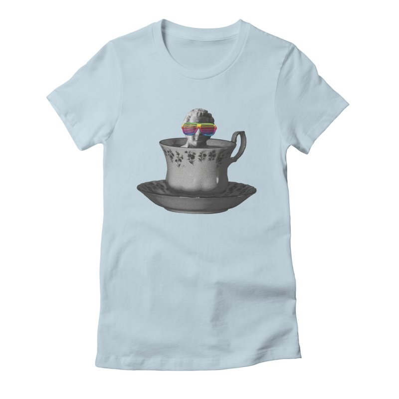 A Cup of Genius Women's Fitted T-Shirt by The Artist Shop of Ben Stevens