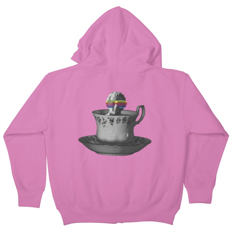 A Cup of Genius Kids Zip-Up Hoody by The Artist Shop of Ben Stevens