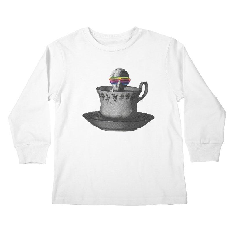 A Cup of Genius Kids Longsleeve T-Shirt by The Artist Shop of Ben Stevens