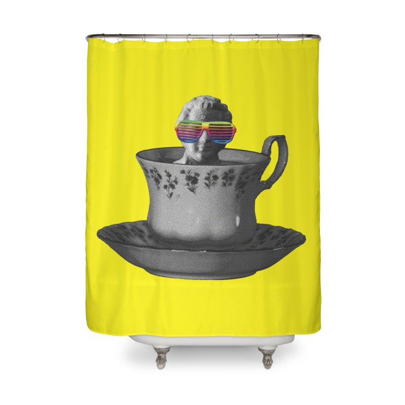 A Cup of Genius Home Shower Curtain by The Artist Shop of Ben Stevens