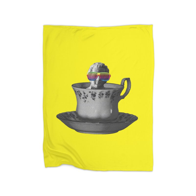 A Cup of Genius Home Blanket by The Artist Shop of Ben Stevens