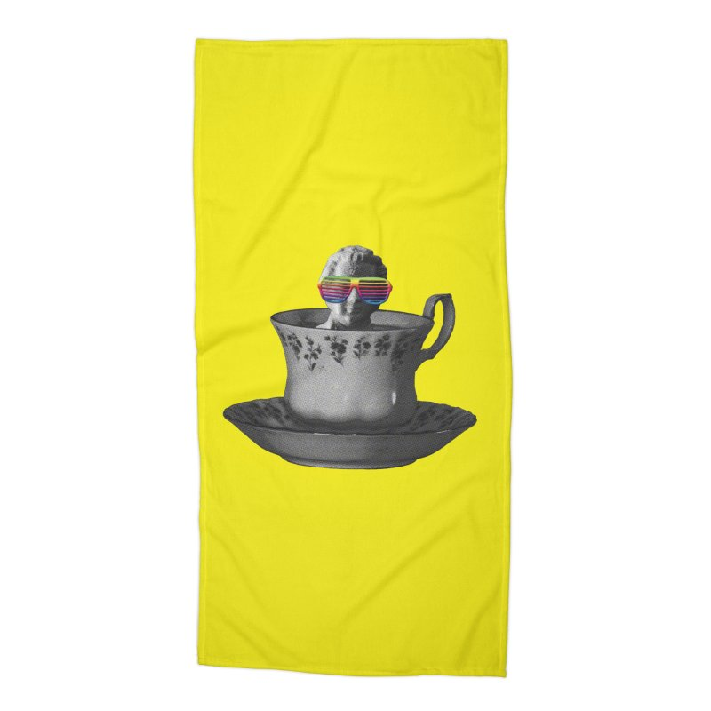 A Cup of Genius Accessories Beach Towel by The Artist Shop of Ben Stevens