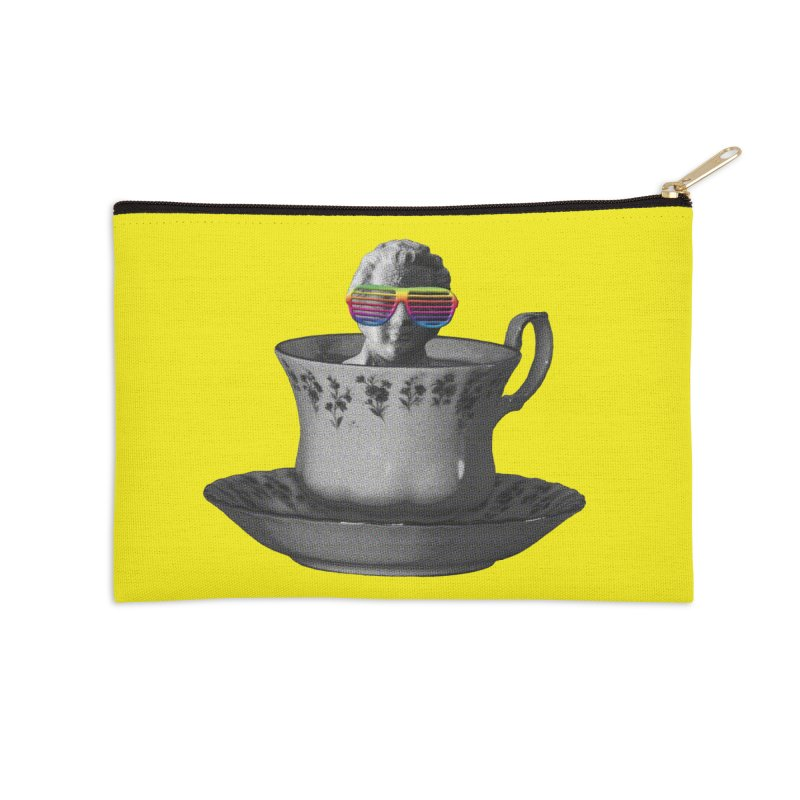 A Cup of Genius Accessories Zip Pouch by The Artist Shop of Ben Stevens