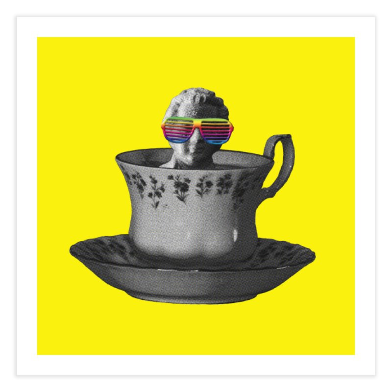 A Cup of Genius Home Fine Art Print by The Artist Shop of Ben Stevens
