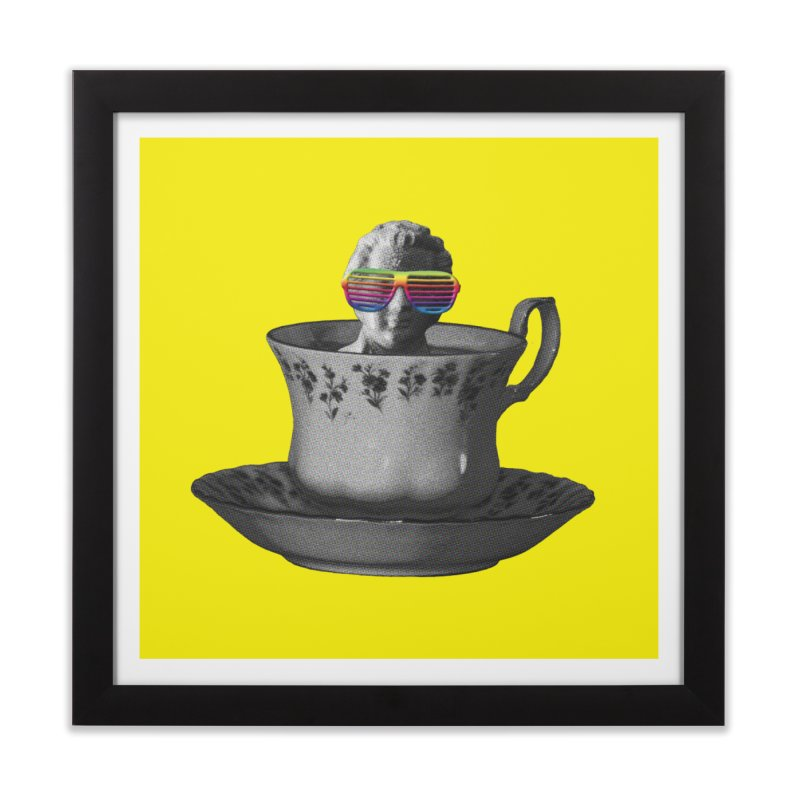 A Cup of Genius Home Framed Fine Art Print by The Artist Shop of Ben Stevens