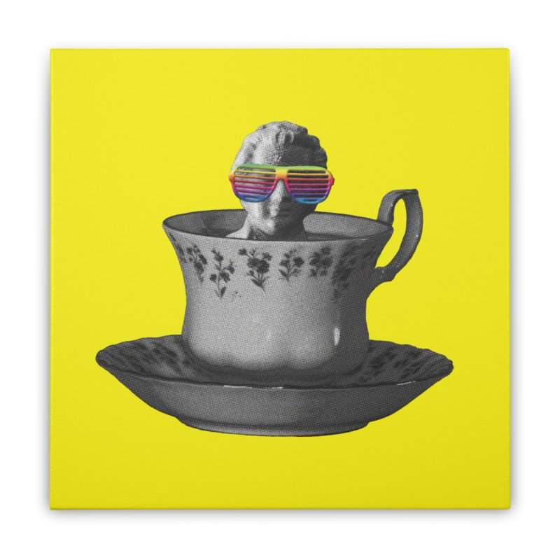 A Cup of Genius Home Stretched Canvas by The Artist Shop of Ben Stevens
