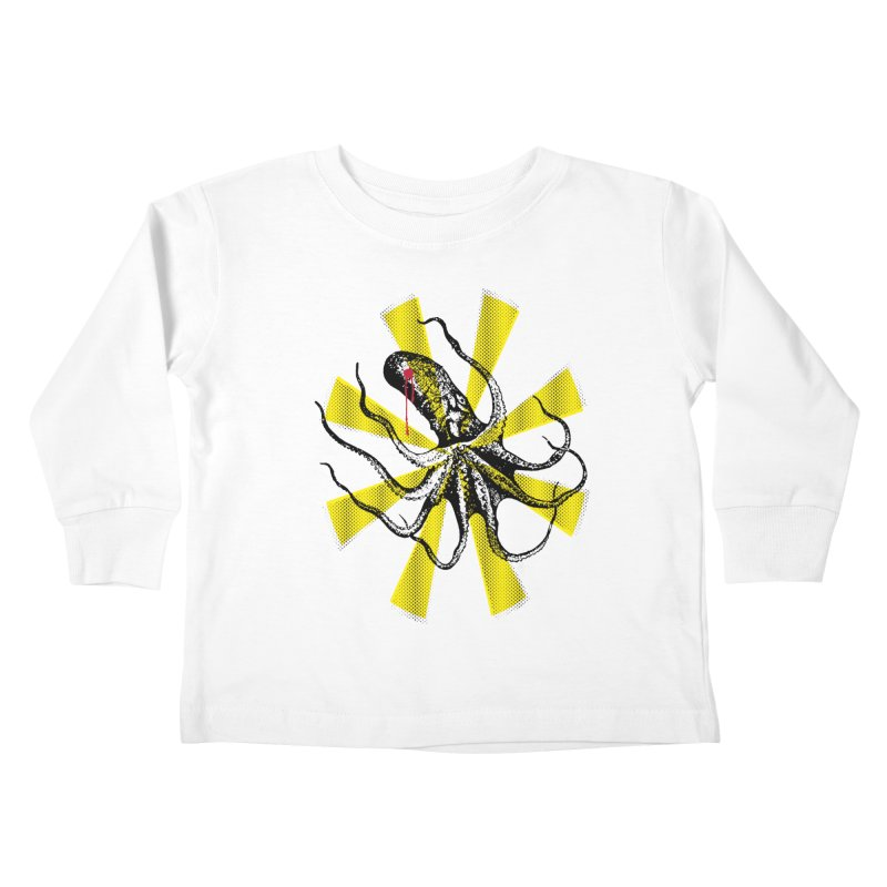 Kraken Up Kids Toddler Longsleeve T-Shirt by The Artist Shop of Ben Stevens