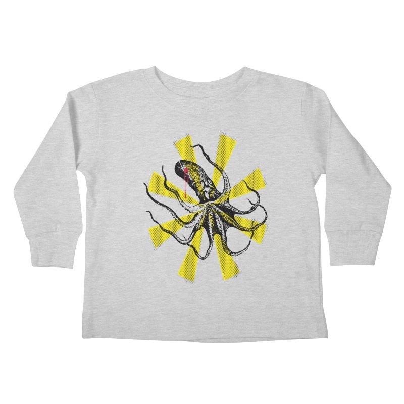 Kraken Up Kids Toddler Longsleeve T-Shirt by The Artist Shop of Ben Stevens