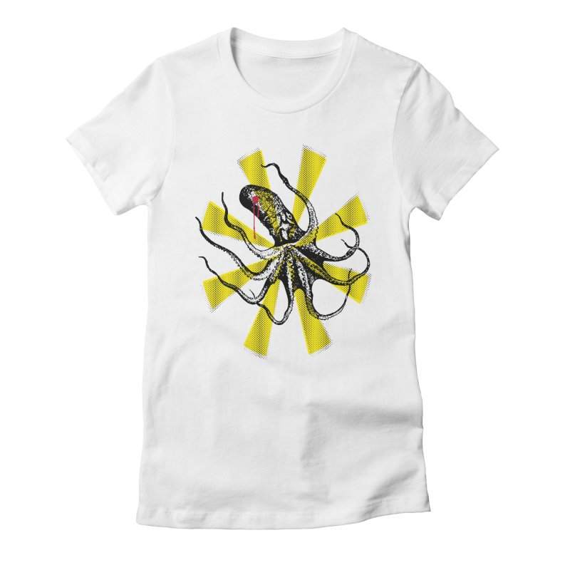 Kraken Up Women's Fitted T-Shirt by The Artist Shop of Ben Stevens