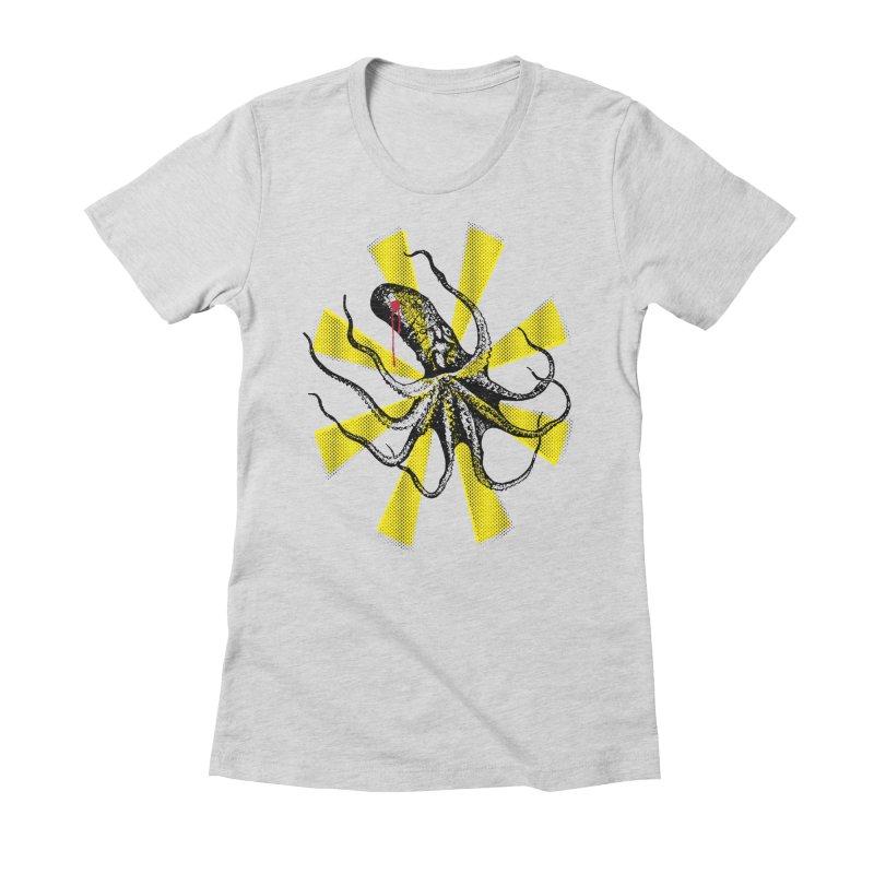 Kraken Up Women's Fitted T-Shirt by The Artist Shop of Ben Stevens