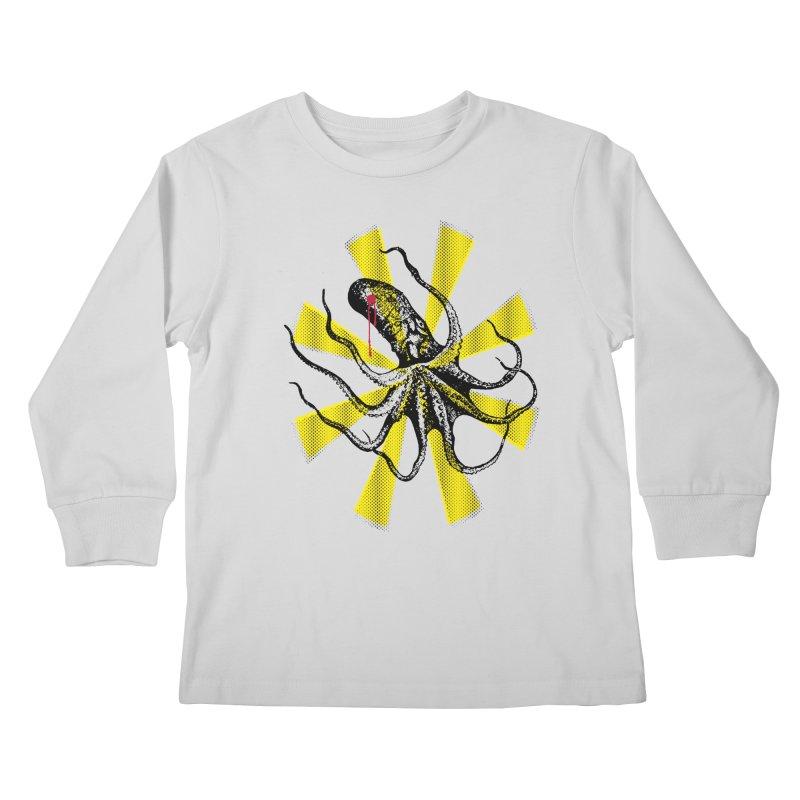 Kraken Up Kids Longsleeve T-Shirt by The Artist Shop of Ben Stevens