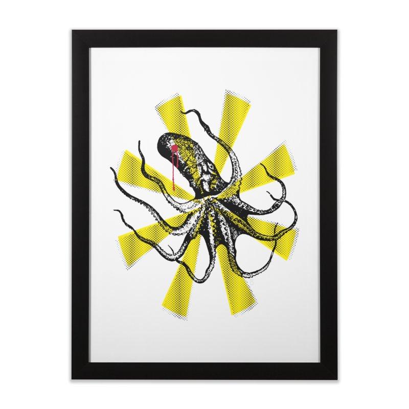 Kraken Up Home Framed Fine Art Print by The Artist Shop of Ben Stevens