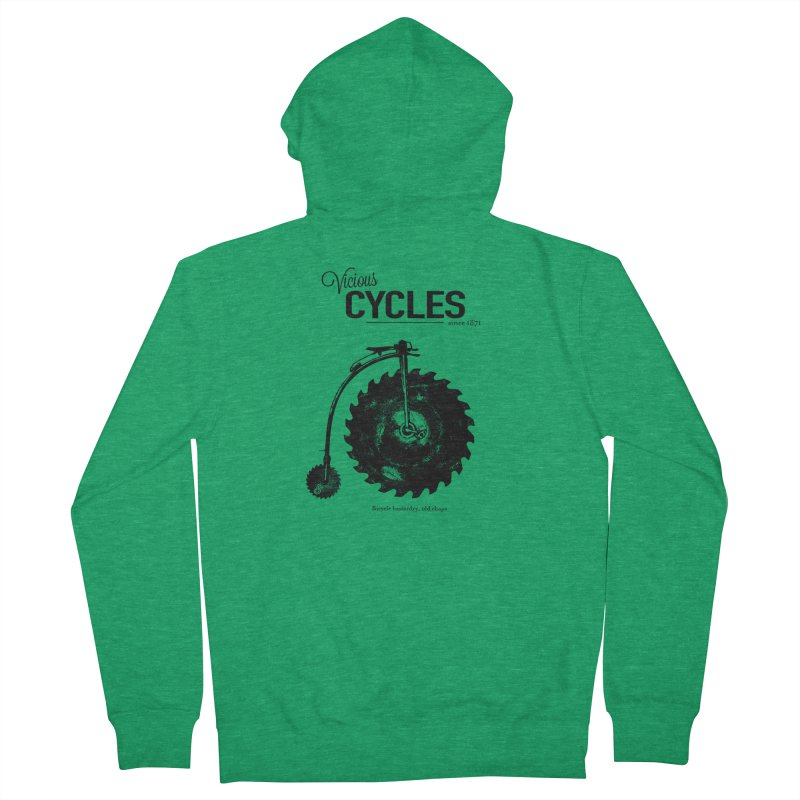 Vicious Cycles Women's French Terry Zip-Up Hoody by The Artist Shop of Ben Stevens