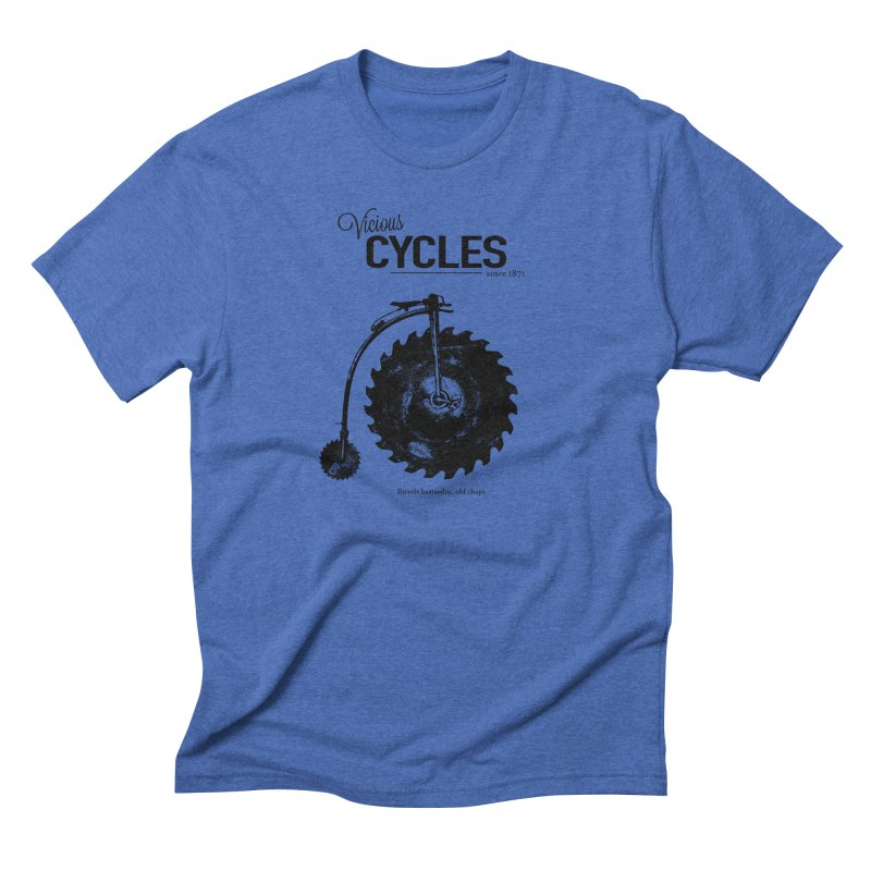 Vicious Cycles Men's Triblend T-Shirt by The Artist Shop of Ben Stevens