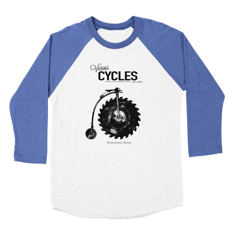 Vicious Cycles Women's Baseball Triblend T-Shirt by The Artist Shop of Ben Stevens