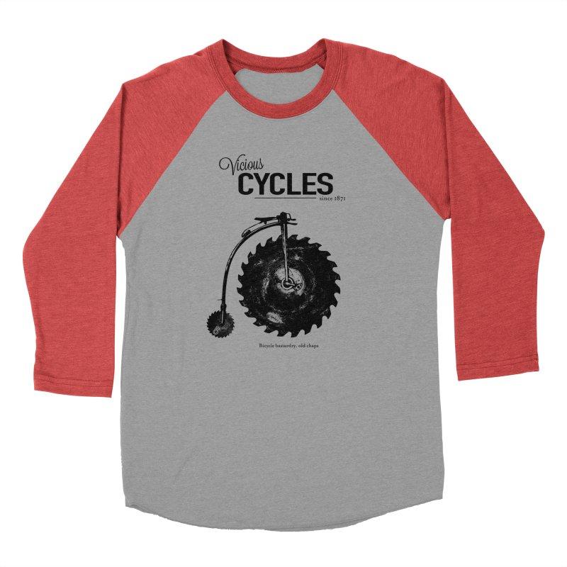 Vicious Cycles Women's Baseball Triblend Longsleeve T-Shirt by The Artist Shop of Ben Stevens