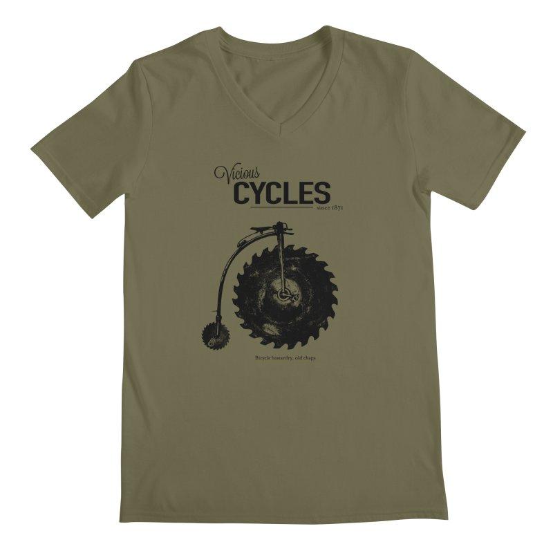 Vicious Cycles Men's V-Neck by The Artist Shop of Ben Stevens