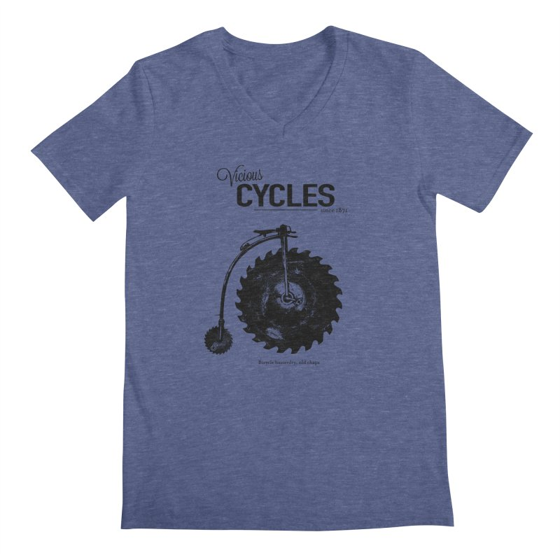 Vicious Cycles Men's V-Neck by The Artist Shop of Ben Stevens