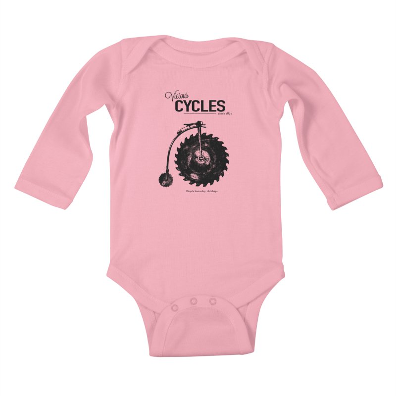 Vicious Cycles Kids Baby Longsleeve Bodysuit by The Artist Shop of Ben Stevens