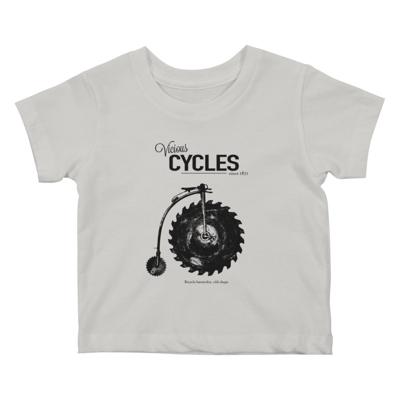 Vicious Cycles Kids Baby T-Shirt by The Artist Shop of Ben Stevens