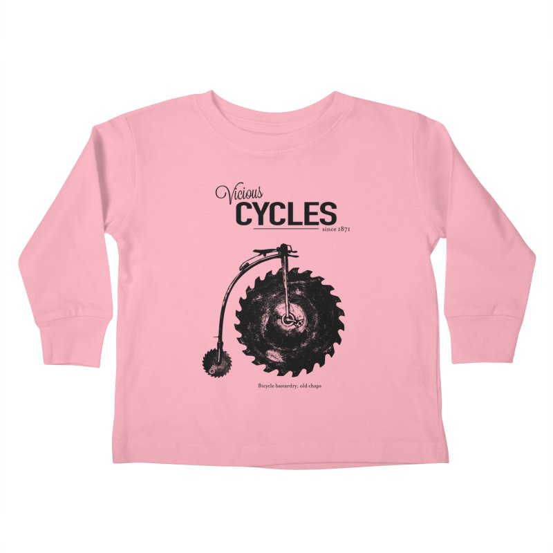 Vicious Cycles Kids Toddler Longsleeve T-Shirt by The Artist Shop of Ben Stevens
