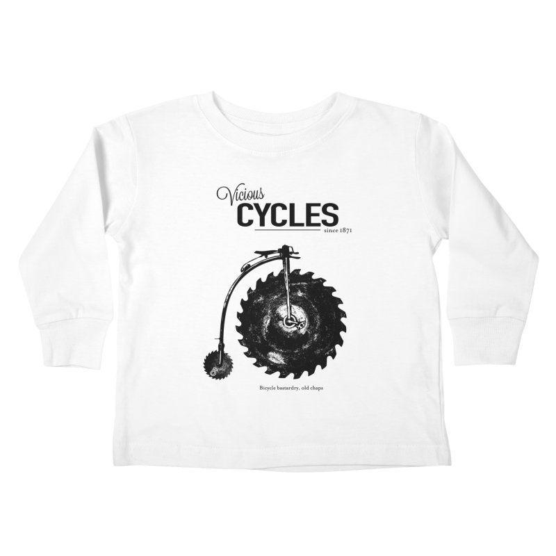 Vicious Cycles Kids Toddler Longsleeve T-Shirt by The Artist Shop of Ben Stevens