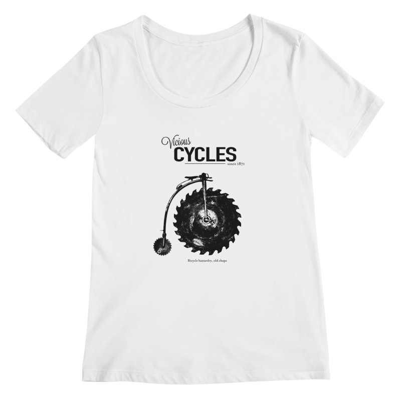Vicious Cycles Women's Scoopneck by The Artist Shop of Ben Stevens
