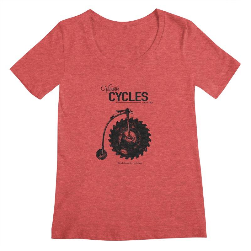 Vicious Cycles Women's Scoopneck by The Artist Shop of Ben Stevens