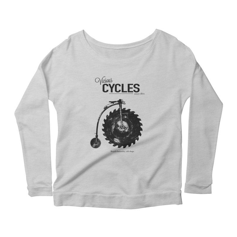 Vicious Cycles Women's Longsleeve Scoopneck  by The Artist Shop of Ben Stevens