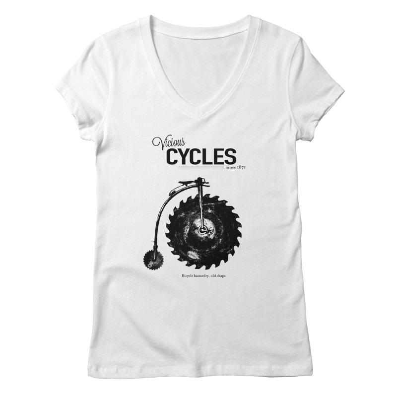 Vicious Cycles Women's V-Neck by The Artist Shop of Ben Stevens