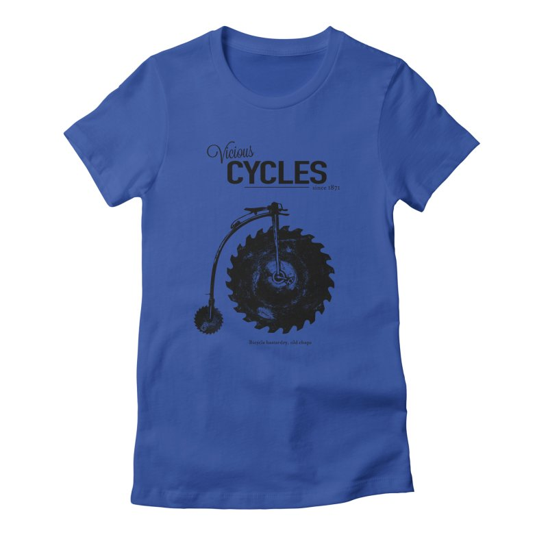 Vicious Cycles Women's Fitted T-Shirt by The Artist Shop of Ben Stevens