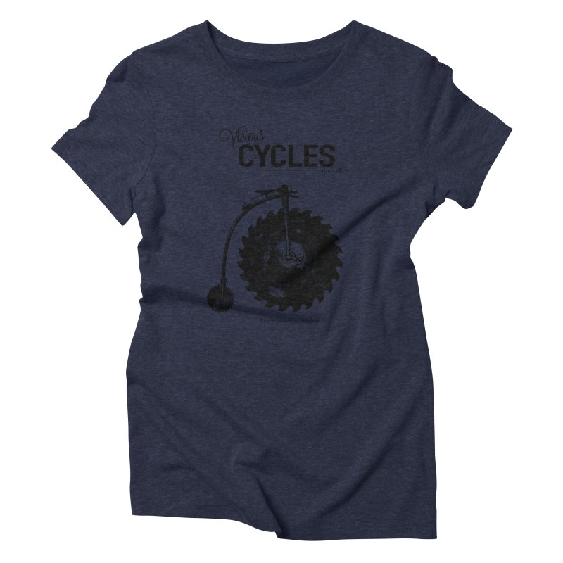 Vicious Cycles Women's Triblend T-Shirt by The Artist Shop of Ben Stevens