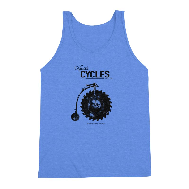 Vicious Cycles Men's Triblend Tank by The Artist Shop of Ben Stevens