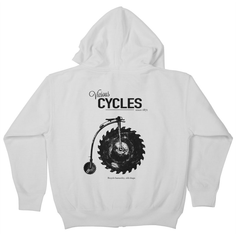 Vicious Cycles Kids Zip-Up Hoody by The Artist Shop of Ben Stevens