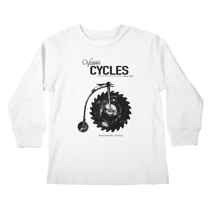 Vicious Cycles Kids Longsleeve T-Shirt by The Artist Shop of Ben Stevens