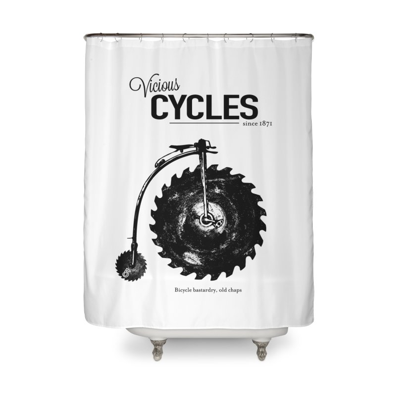 Vicious Cycles Home Shower Curtain by The Artist Shop of Ben Stevens