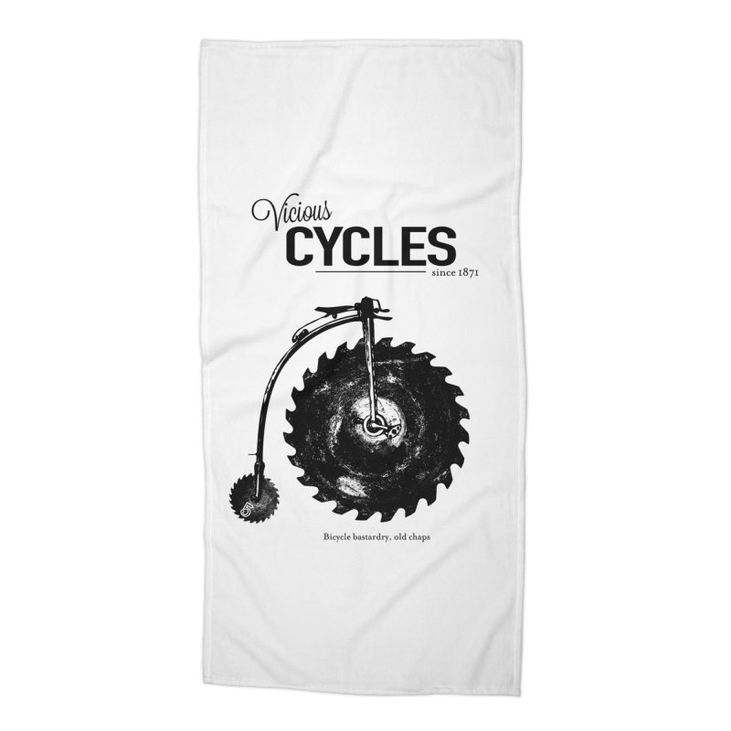 Vicious Cycles Accessories Beach Towel by The Artist Shop of Ben Stevens
