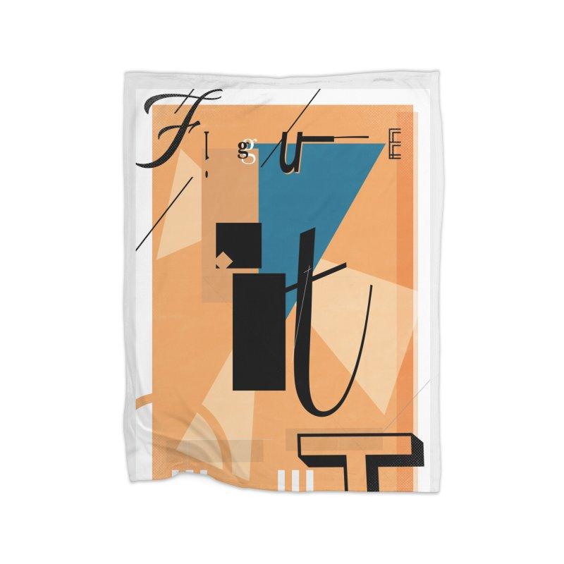 Figure it out Home Fleece Blanket Blanket by The Artist Shop of Ben Stevens