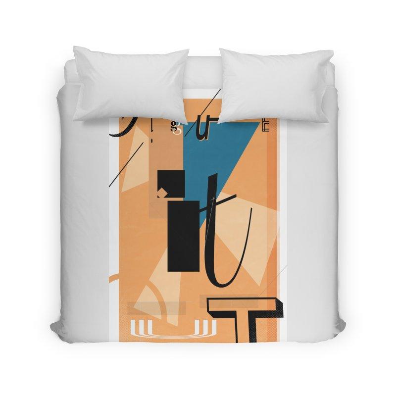 Figure it out Home Duvet by The Artist Shop of Ben Stevens