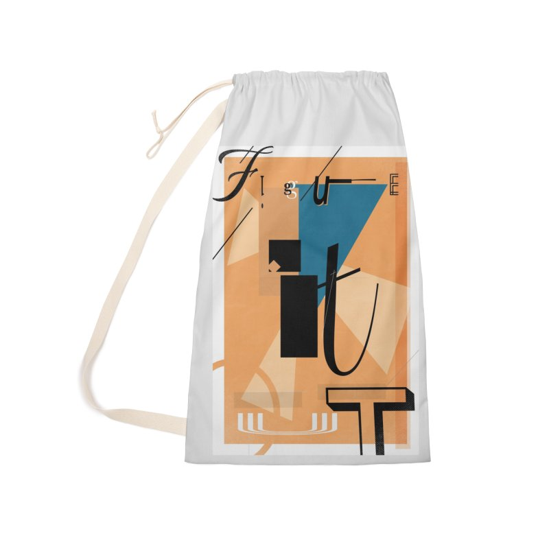 Figure it out Accessories Laundry Bag Bag by The Artist Shop of Ben Stevens
