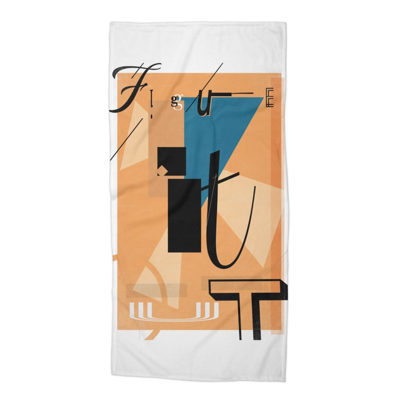 Figure it out Accessories Beach Towel by The Artist Shop of Ben Stevens