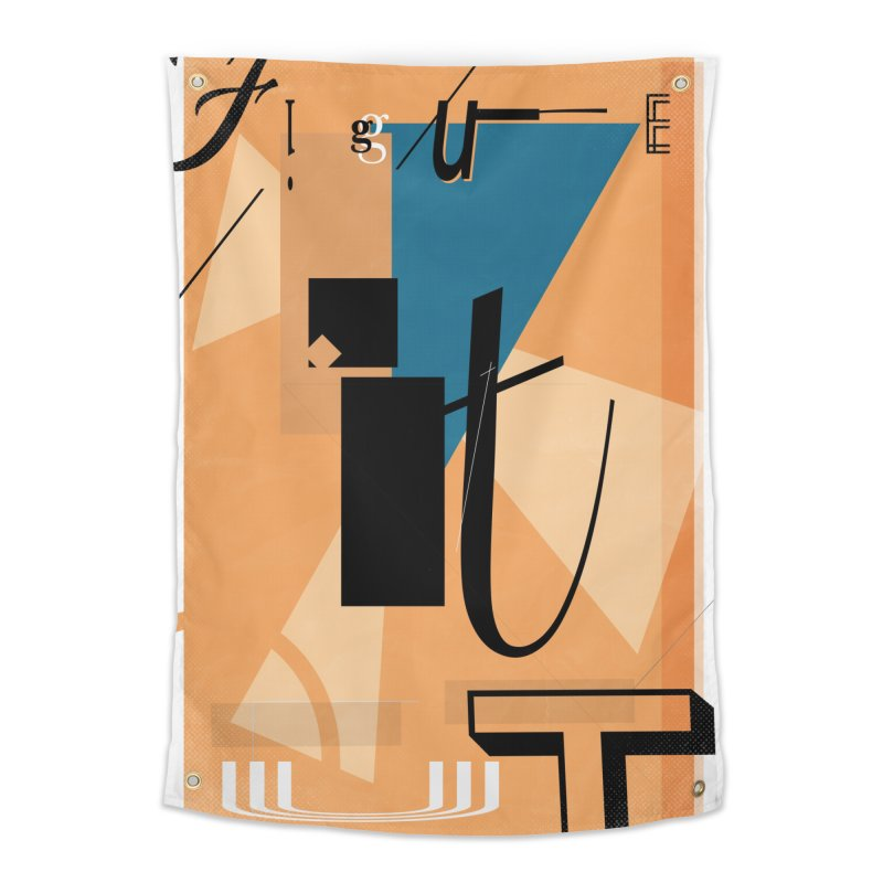 Figure it out Home Tapestry by The Artist Shop of Ben Stevens