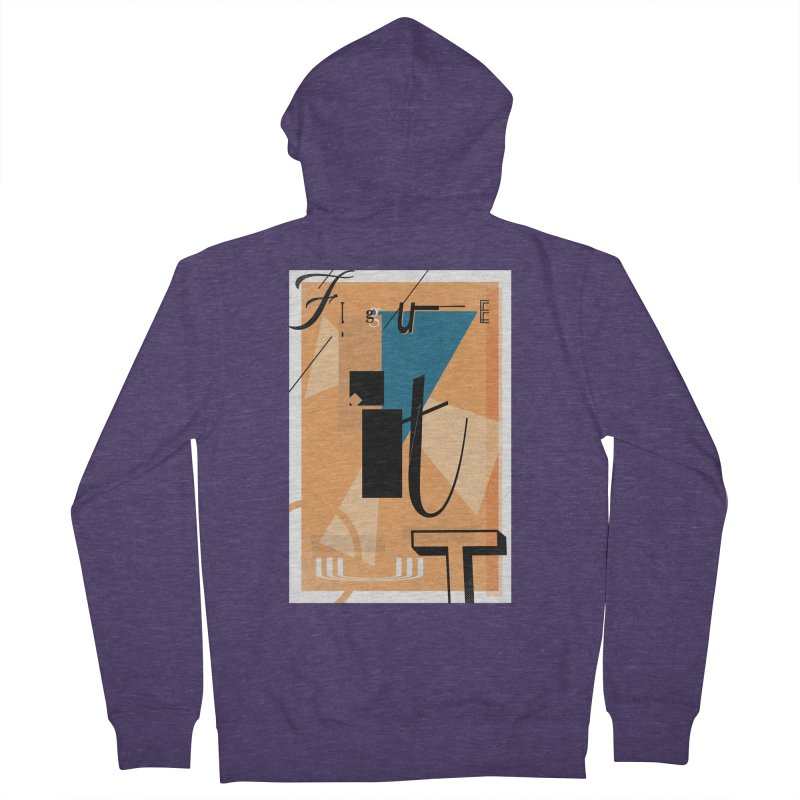 Figure it out Men's Zip-Up Hoody by The Artist Shop of Ben Stevens