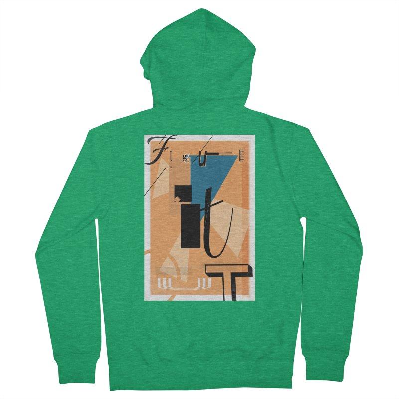 Figure it out Men's Zip-Up Hoody by The Artist Shop of Ben Stevens